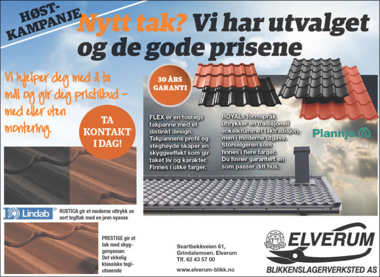 Elverum blikkenslager høst Kampanje  2017